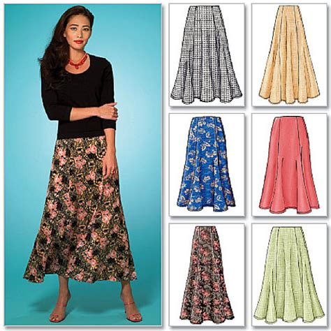 plus size skirt sewing pattern 6 different skirts