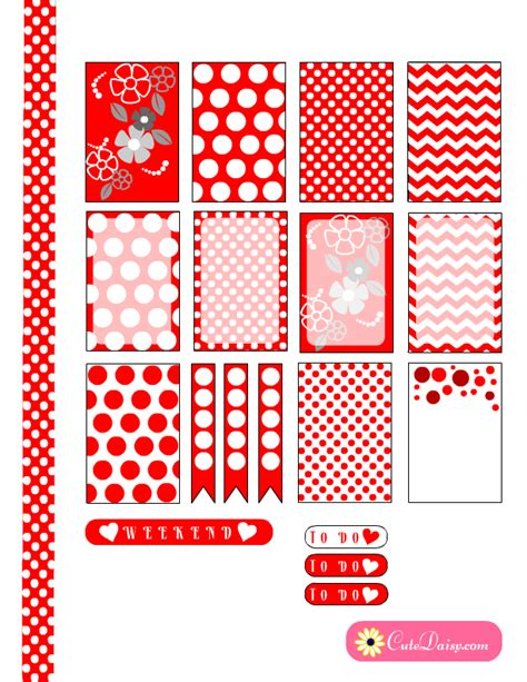 happy planner free printable stickers free printable happy planner stickers with red and white