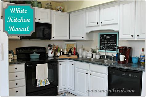 black kitchen cabinets with white appliances white kitchen reveal a before after black appliances