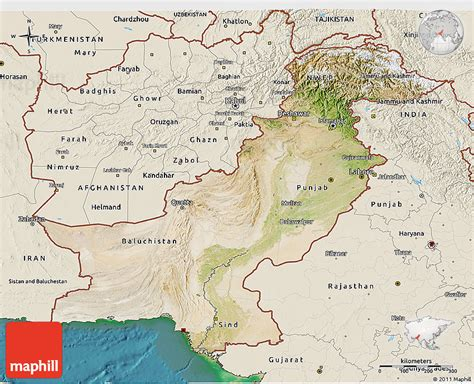 pakistan map satellite satellite 3d map of pakistan shaded relief outside