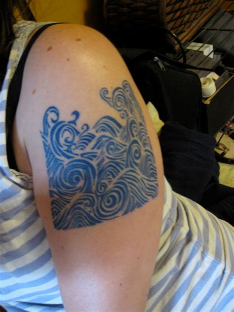 ocean waves tattoo beautiful oneday d on wave tattoos