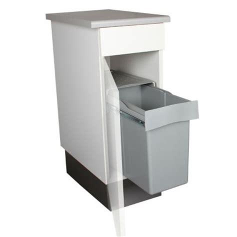 poubelles de cuisine encastrables poubelle de cuisine coulissante 1 bac 30 litres