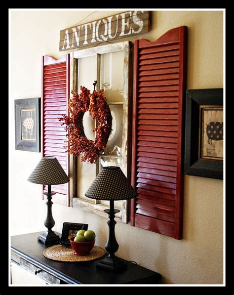 Shutter Wall Decor by Best 25 Shutter Decor Ideas On Window Shutters Decor Shutter Projects And Shutter