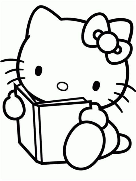 dibujos infantiles kitty dibujo de hello kitty leyendo para colorear dibujos