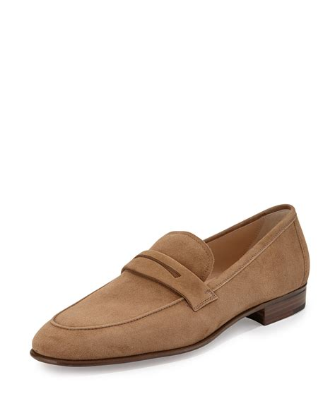 suede loafer gravati suede loafer in brown for lyst