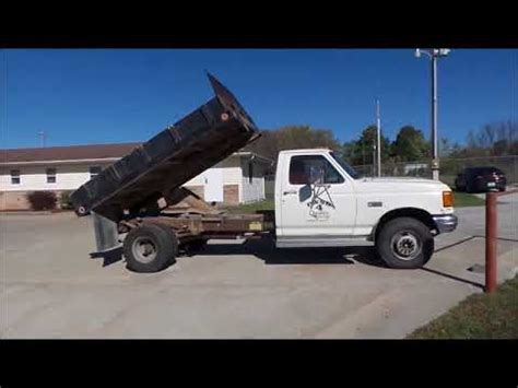 ford fsd dump truck 1991 red for sale 2fdlf47g0mca11208 1991 ford super duty dump truck 129 000 1991 ford f450 super duty flat dump bed truck for sale no reserve auction november 29 2017