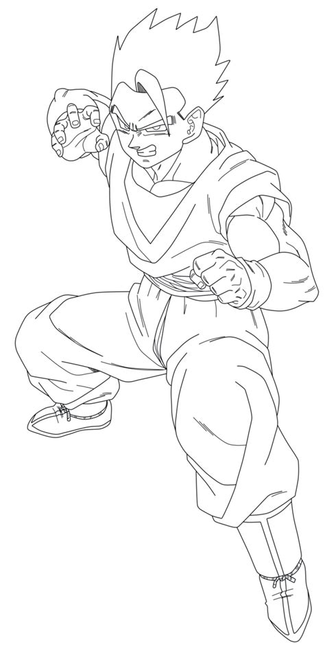 I M Drawing The Line by Ultimate Gohan Free Coloring Pages