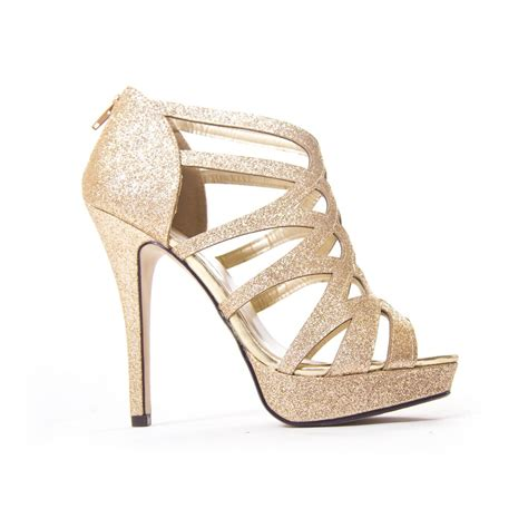gold high heel make a fashion statement with gold high heels