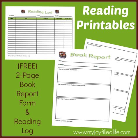 book reading report sles free reading log book report form my filled