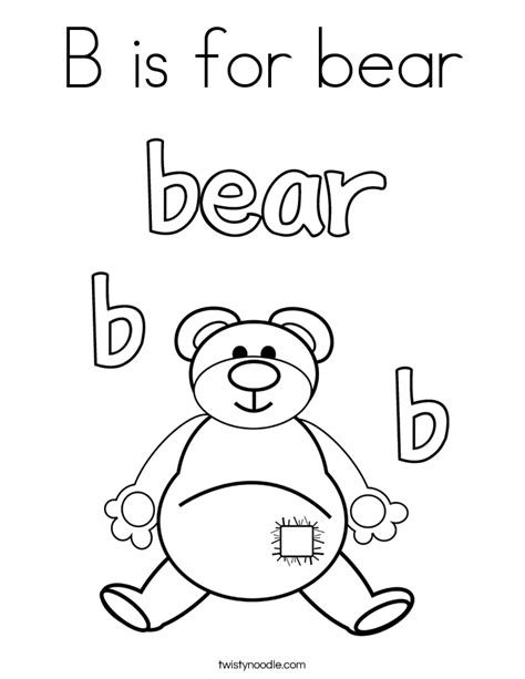 printable version of brown bear brown bear b is for bear coloring page with black bear coloring pages