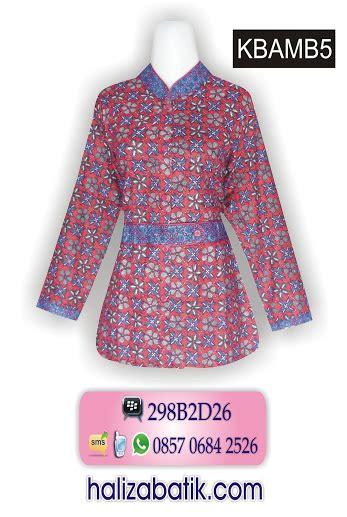 Atasan Blouse Kerja Batik Motif Prodo Merahbatik Pekalongan model kemeja batik wanita grosir batik gamis batik