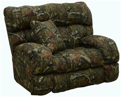 camo catnapper recliner appalachian lay flat recliner in mossy oak or realtree