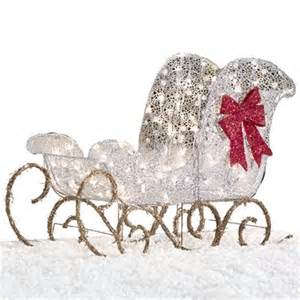 holiday living 36 in lighted mesh sleigh outdoor christmas