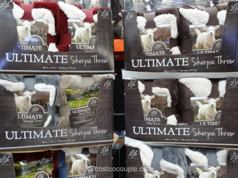 life comfort cuddly sherpa throw costco life comfort ultimate sherpa throw