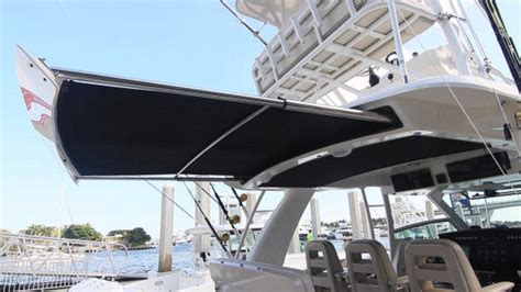 retractable boat awning playing boston whaler 420 outrage 2015 boston