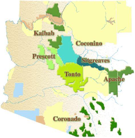 arizona national forest map tonto national forest fishing information hookedaz