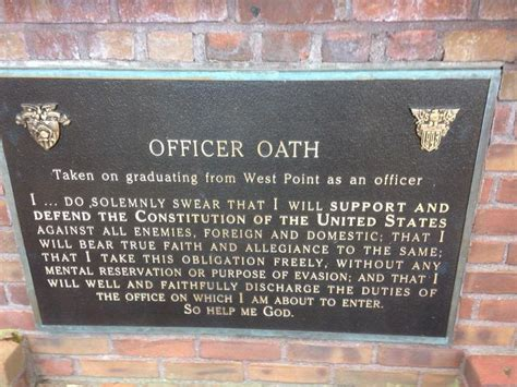 west point officers oath west point
