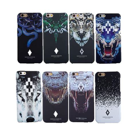 Marcelo Burlon 2 Wolf Iphone 6 7 5 Xiaomi Redmi Note F1s Oppo S6 Vivo newest snakes tiger wolf jellyfish feather coque