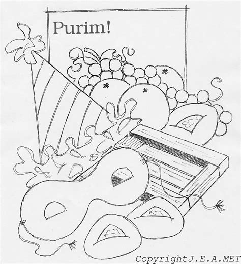 free purim haman coloring pages