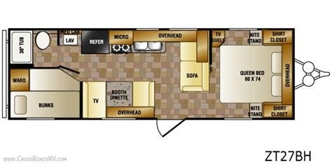 28 bunkhouse travel trailer floor plans the best 2011 crossroads zinger 27bh bunkhouse cer esquimalt