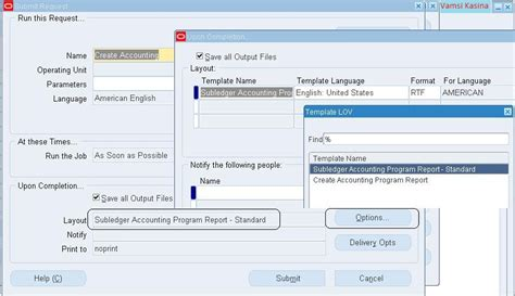 accounting report template r12 xla fah create accounting is giving output as