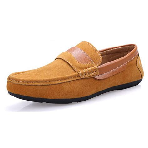 Mens Casual Suede Loafer Shoes Casual Moccasins Driving Shoes shoes suede loafers black driving moccasins casual slip on loafers shoes