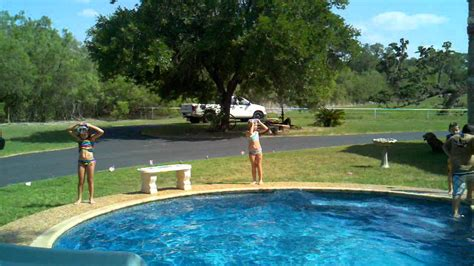 rope swing into pool colton rope swing into pool youtube