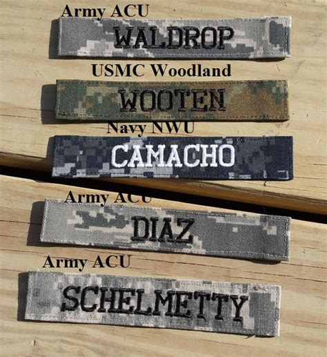 scorpion pattern name tapes military name tape or name patch army acu or ocp marine