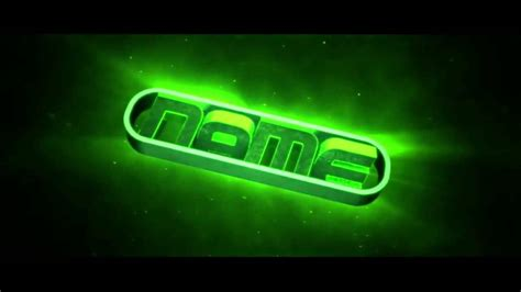 Free 3d Intro 30 3d Green Bass Intro Template Youtube Intro Templates