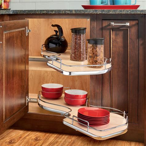 Kitchen Bakers Cabinet by The Cloud Quot Double Tier Blind Corner Cabinet Organizer By