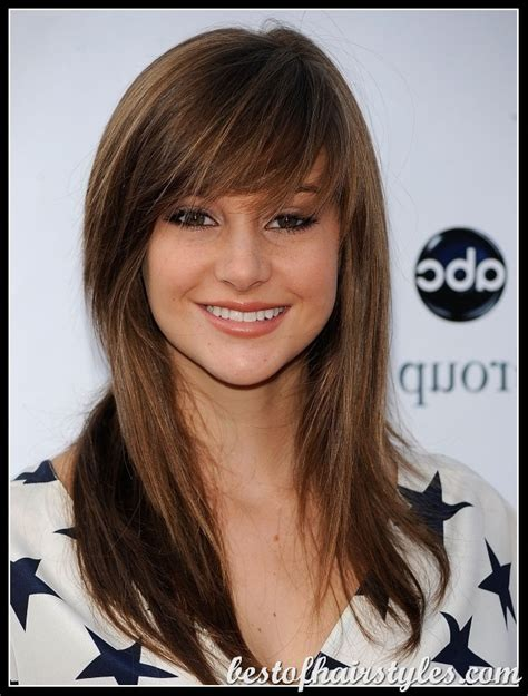 Hairstyle With A Few Bangs | long straight hair bangs celebrity hairstyles photos
