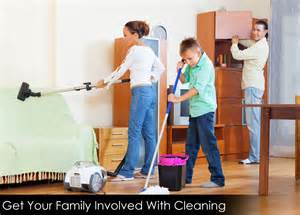 at home cleaning how to get your family involved with cleaning