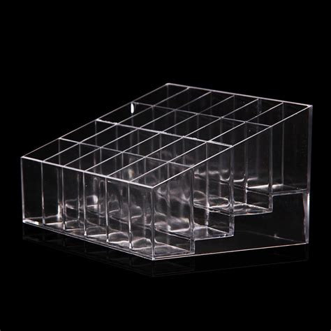 Acrylic Stand clear acrylic 24 lipstick holder display stand cosmetic