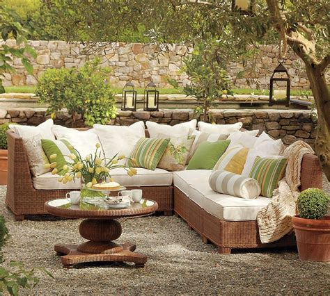 design patio furniture pottery barn outdoor green and beige furniture interior