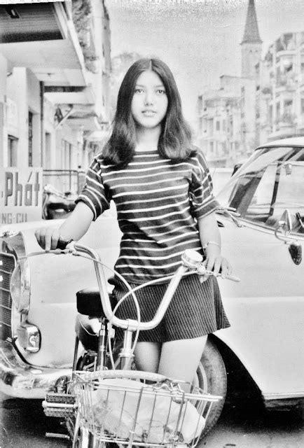 Beautiful young girl on the street, Saigon, 1972 ~ vintage