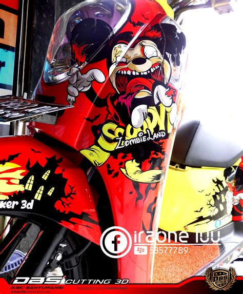 Cutting Sticker 3d Custom Scoopy Vector jual cutting sticker 3d scoopy dbs cutting sticker