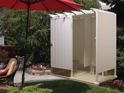 pvc outdoor shower outdoor shower enclosures outside showers