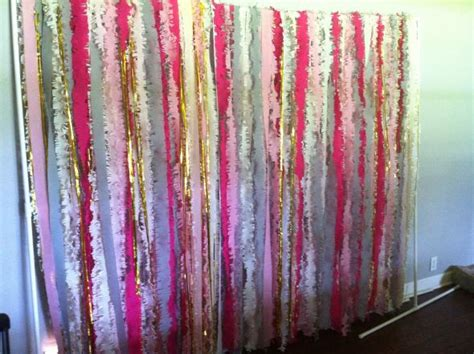 streamer curtains streamer curtain backdrop weddingbee photo gallery