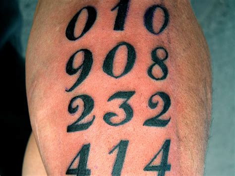 numbers tattoo number images designs