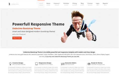 bootstrap themes ember cms website template built with bootstrap dmxready