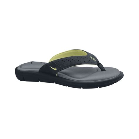 comfort thong sandals nike comfort thong sandals in black black white lime wht