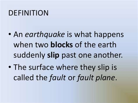 earthquake meaning earthquake