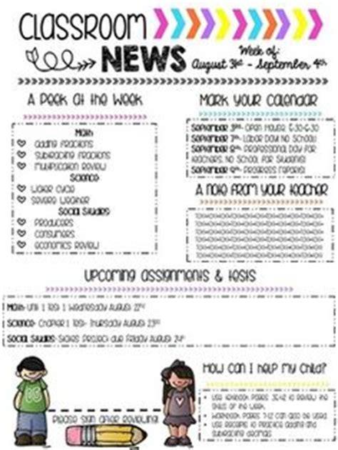 Editable Newsletter Template Teaching Ideas Teaching Resources Pinterest Newsletter Special Education Newsletter Template