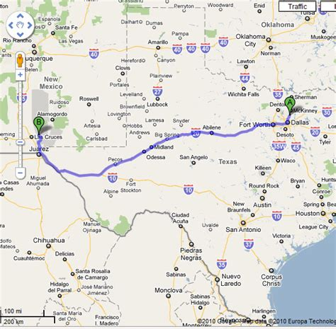 road map of texas and new mexico new mexico texas map