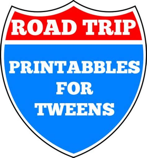 printable games for tweens road trip printables for tweens trips bingo and the family