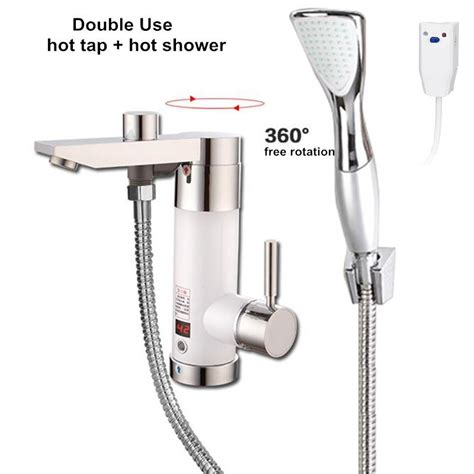 hot water in bathroom sink but not shower instantaneous water heater tap electric tankless
