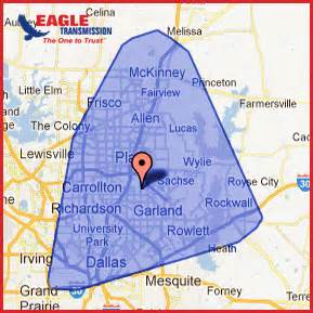 map of plano and surrounding areas the transmission shop plano auto transmission repairs
