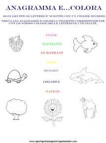 anagrammi lettere anagramma colora giochi enigmistici per bambini esercizi