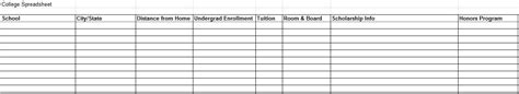 College Search College Search Spreadsheet My Kid S College Choice