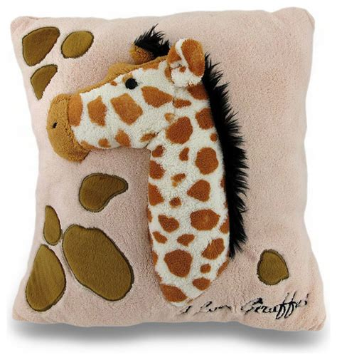 Fuzzy Throw Pillows I Giraffes Soft Fuzzy 2d Stuffed Giraffe Decorative